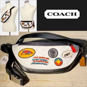 COACH MARVEL Belt Bag Signature Canvas Patches